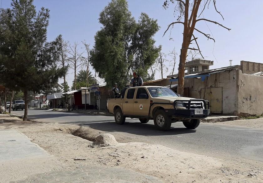 Afghan security patrol in Helmand province