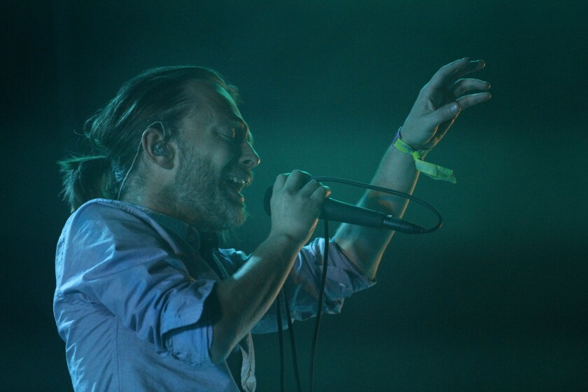 "Thom Yorke performs at Coachella in 2012. The Radiohead singer has composed music for a new Broadway production of Harold Pinter's ""Old Times."""