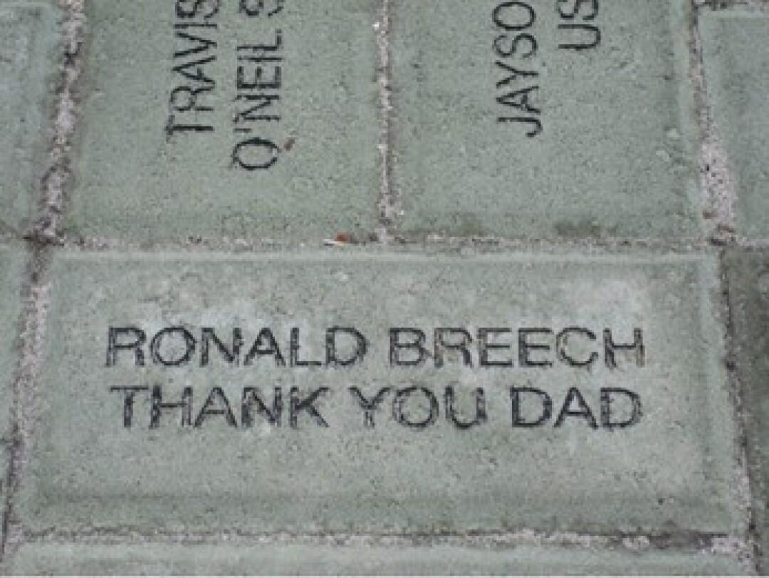 The late Ronald Breech's brick.