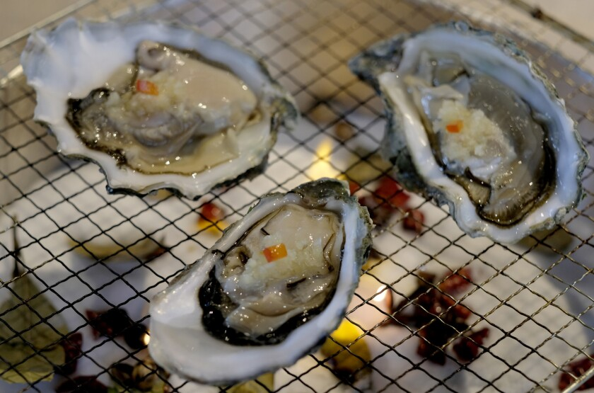Oysters at Hip Hot in Monterey Park.