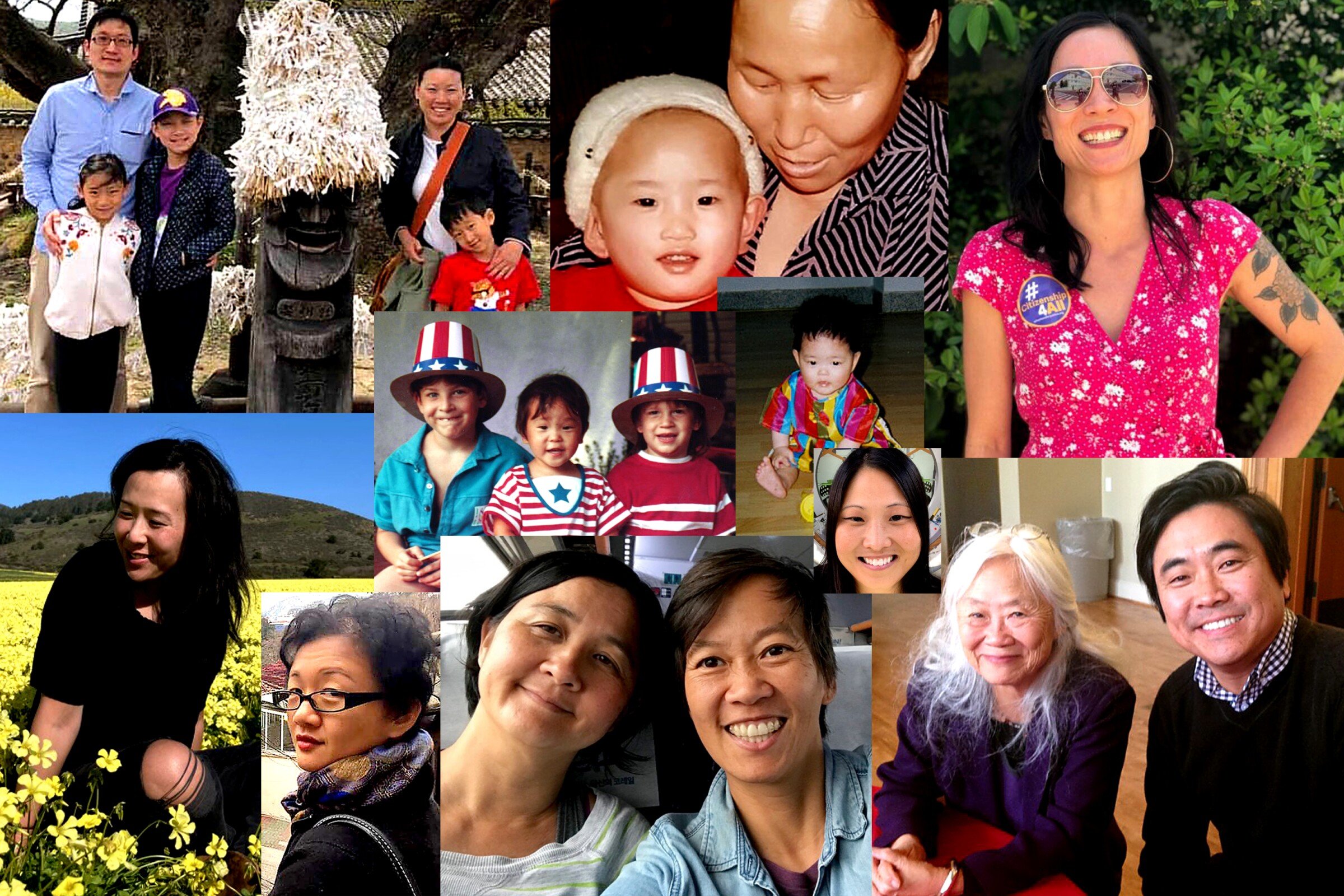 Images of Asian adoptees.