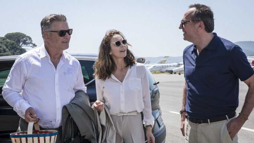 "Alec Baldwin, from left, Diane Lane and Arnaud Viard in the film ""Paris Can Wait."""