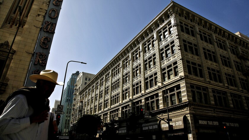 The historic former May Co. department store on Broadway