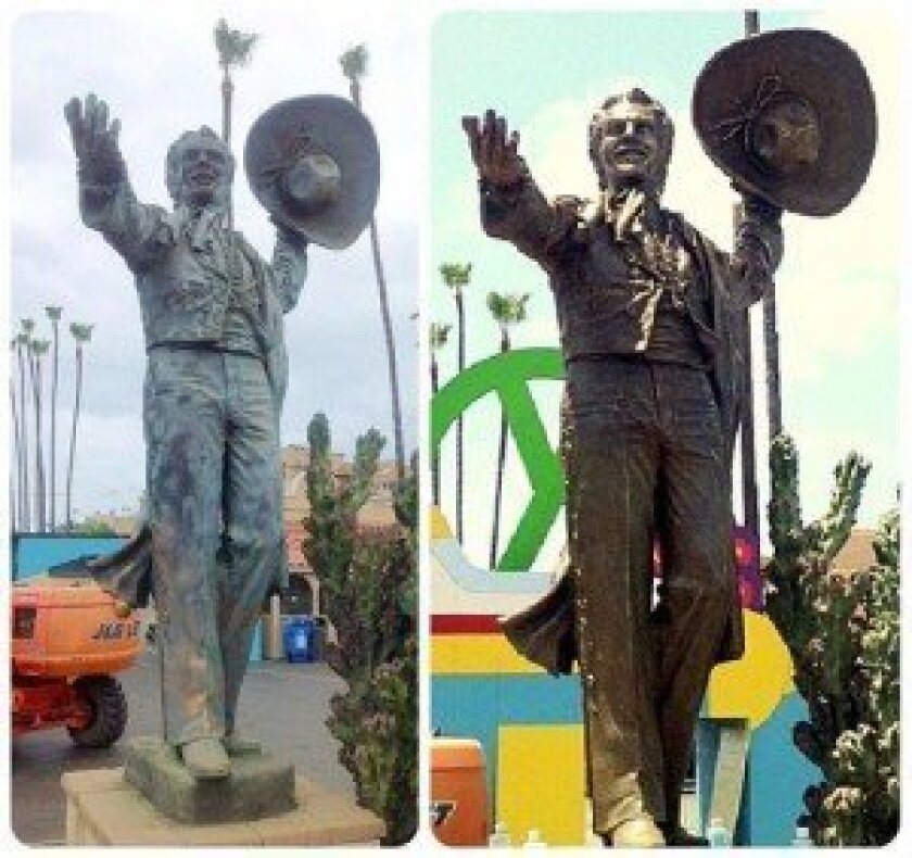The Don Diego statue at the Del Mar Fairgrounds was recently restored. Courtesy photo