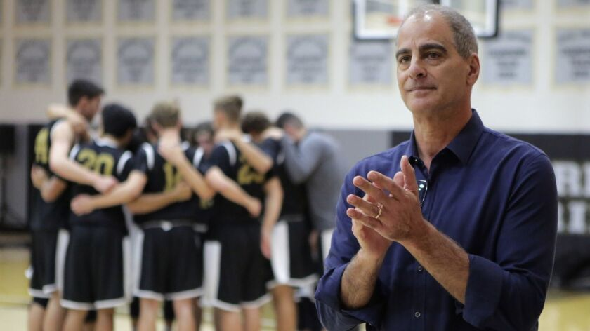Francis Parker high school basketball coach Jim Tomey, 01/10/18. Photo by Bill Wechter