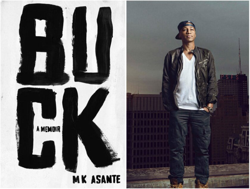 "The cover of ""Buck"" and author MK Asante."
