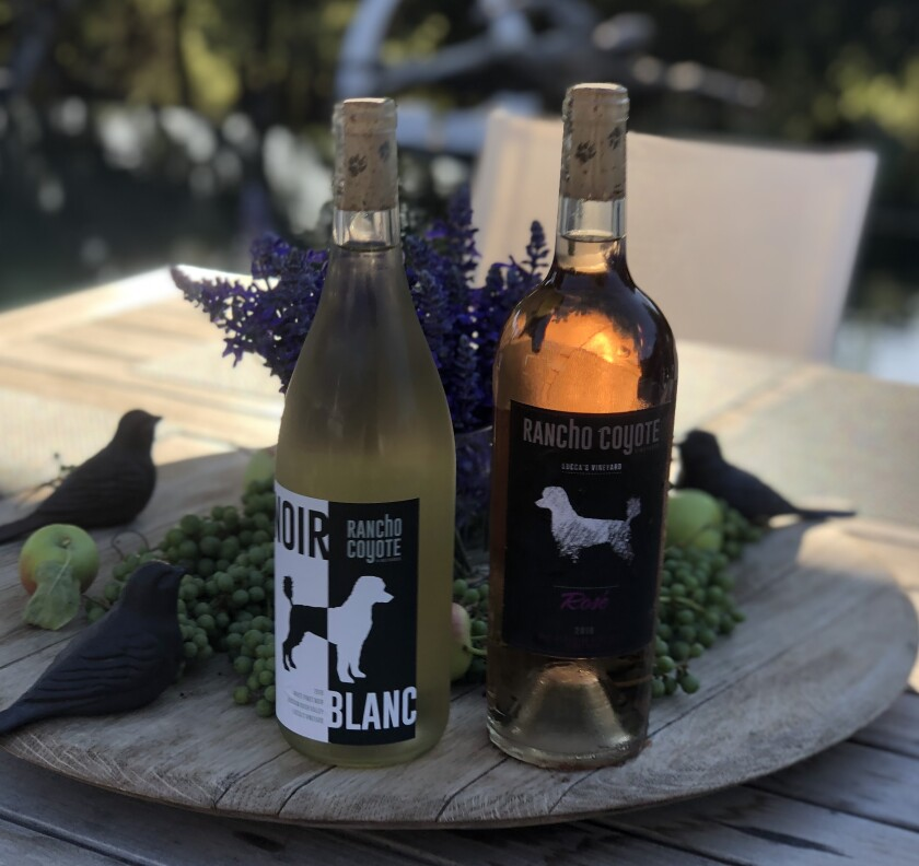 A couple bottles of Rancho Coyote wines