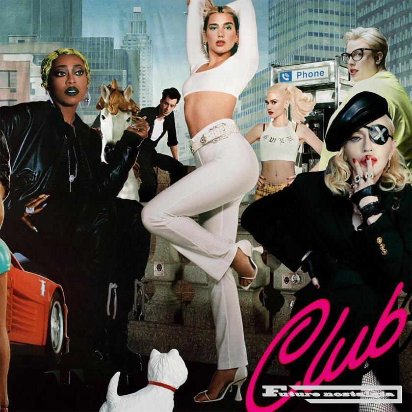 "Dua Lipa's new album, ""Club Future Nostalgia."""