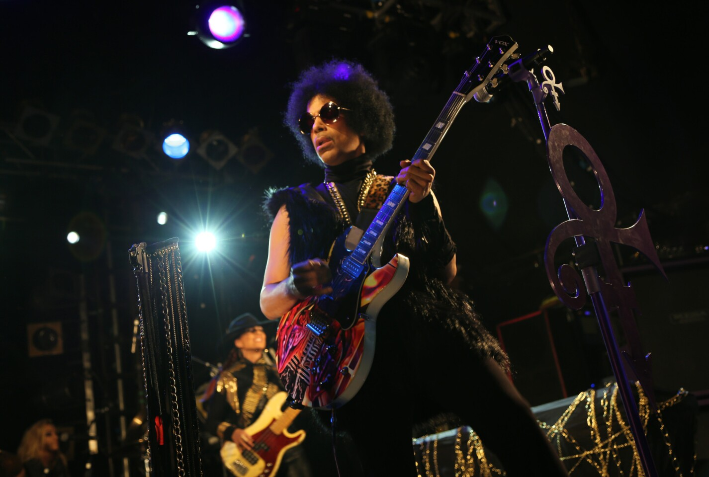 """Prince rocked the Hollywood Palladium on Saturday with a surprise show that stretched into the wee hours of the morning. Backed by a 22-piece band, he proved the 2 1/2-hour wait and sticker price ($100, cash only) was worth it. He delivered electrifying takes on favorites like """"1999,"""" """"Take Me With U,"""" """"Nothing Compares 2 U,"""" """"Raspberry Beret,"""" """"U Got the Look"""" and that was just the main set. I'm still recovering from the dance-fest that happened during a funked-up reimagining of Michael Jackson's """"Don't Stop Till You Get Enough."""""""