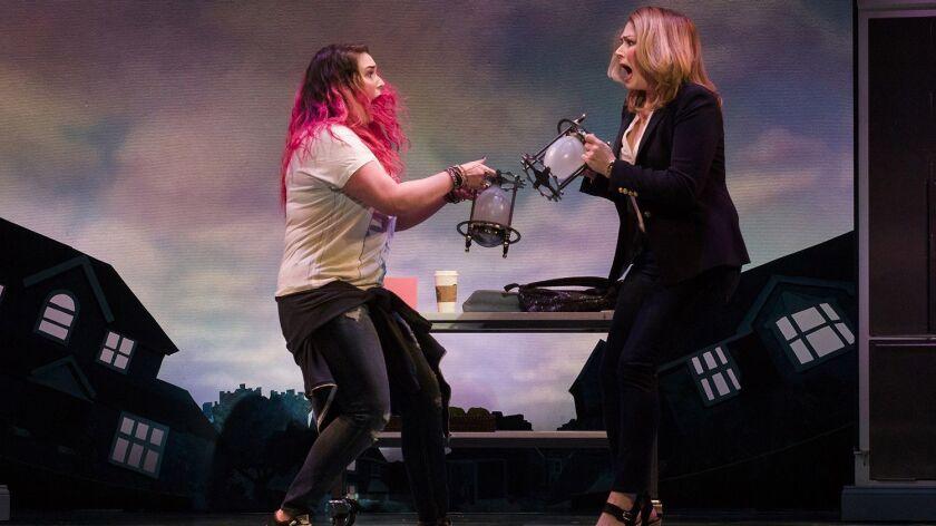 "Emma Hunton (left) and Heidi Blickenstaff in La Jolla Playhouse's ""Freaky Friday."""