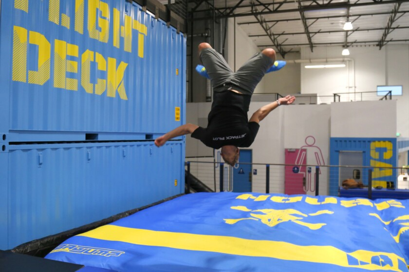 Nate flips at House of Air