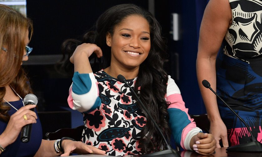 "Actress Keke Palmer attends a film screening at the White House in Washington, D.C., of ""The Trip to Bountiful."" The 20-year-old is set to host a new talk show on BET."