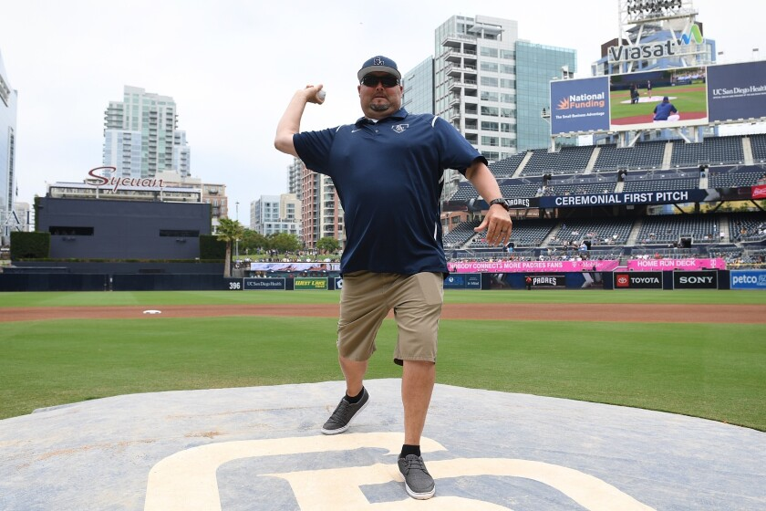 Desi Herrera was honored by the Padres in 2019 at Petco Park.