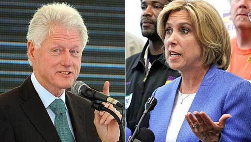 Bill Clinton backs Wendy Greuel in L.A. mayoral race