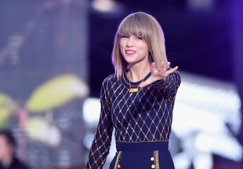 "Taylor Swift, pictured performing on ABC's ""Good Morning America"" in October, will be the first recipient of the American Music Awards' new Dick Clark Award for Excellence at this year's ceremony on Sunday in Los Angeles."