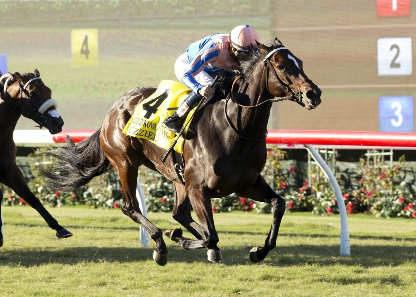 Uzziel goes gate to wire to win the Grade II, $200,000 Goldikova Stakes at Del Mar on Sunday with jockey Kent Desormeaux winning for his trainer-brother Keith.