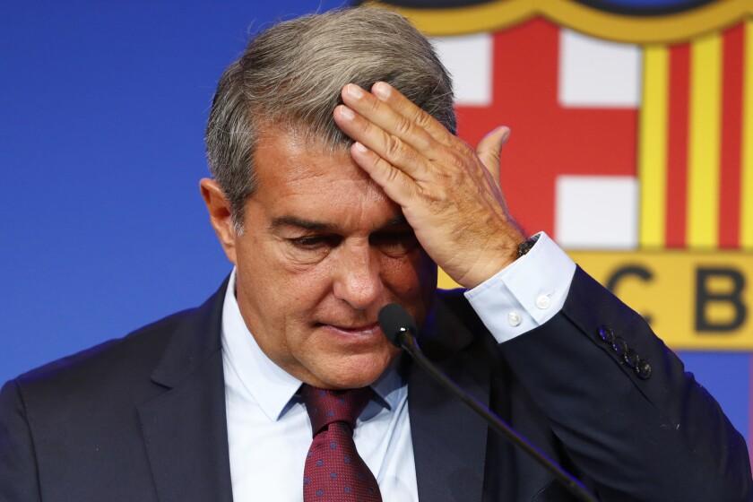 FC Barcelona club President Joan Laporta