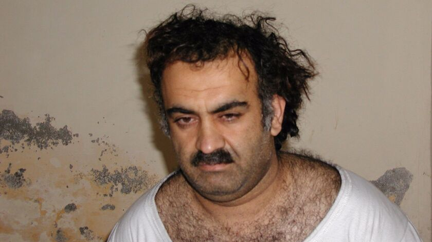 Khalid Sheikh Mohammed, the alleged mastermind of the Sept. 11, 2001, terrorist attacks, in a 2003 file photo taken shortly after his capture during a raid in Pakistan.