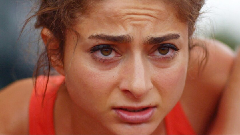 """Alexi Pappas in the film """"Tracktown."""""""
