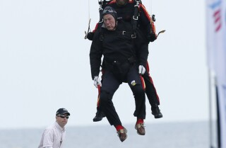 It's a bird, it's a plane, it's George H.W. Bush skydiving!