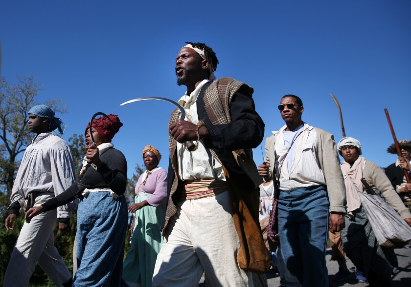 The reenactment spotlights the largest slave rebellion in U.S. history, an event that is largely overlooked.