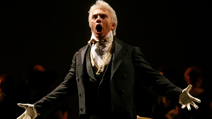 Dmitri Hvorostovsky, photographed in 2007. The baritone, who died this month at age 55, is nominated for a Grammy in the solo vocal category.