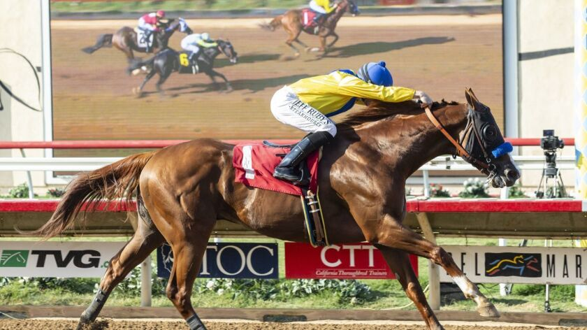 Dabster won the Harry F. Brubaker Stakes Wednesday as the 3-5 favorite.