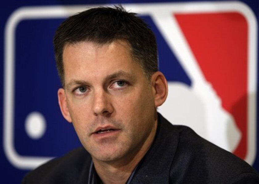 Arizona Diamondbacks manager A.J. Hinch responds to a question during a news conference at the baseball winter meetings in Indianapolis, Tuesday, Dec. 8, 2009. (AP Photo/Michael Conroy)