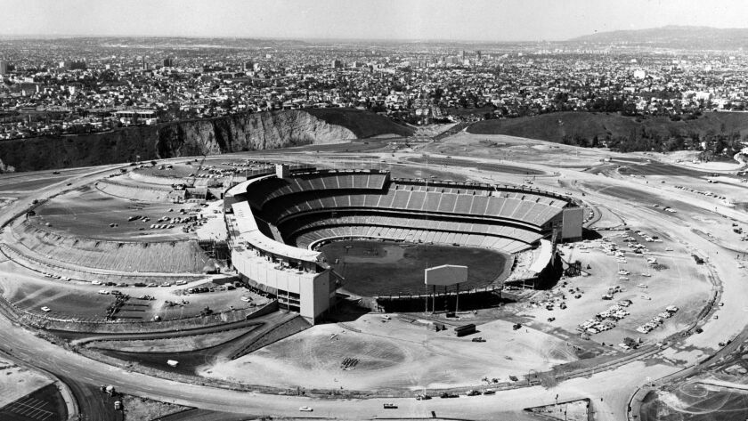 Dodger Stadium photographed in 1962.