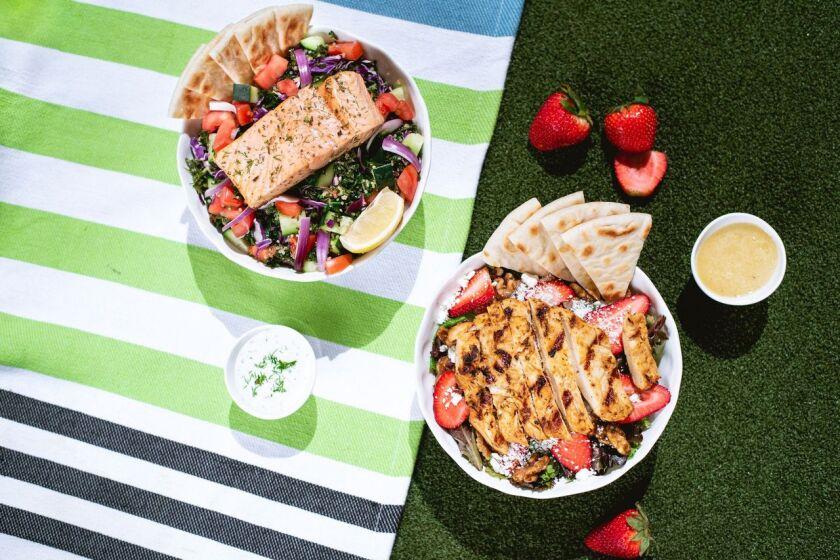 Daphne's restaurants are serving two new summer salads through Oct. 4.