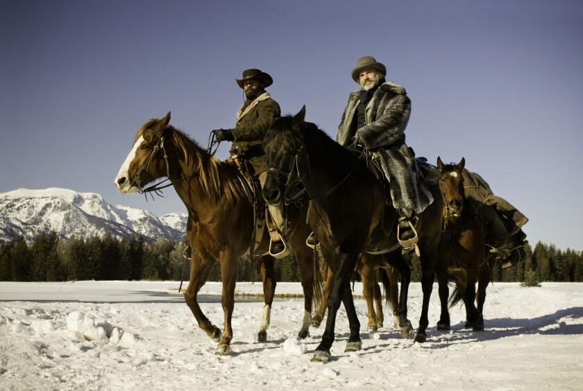 "Jamie Foxx and Christoph Waltz in ""Django Unchained."""