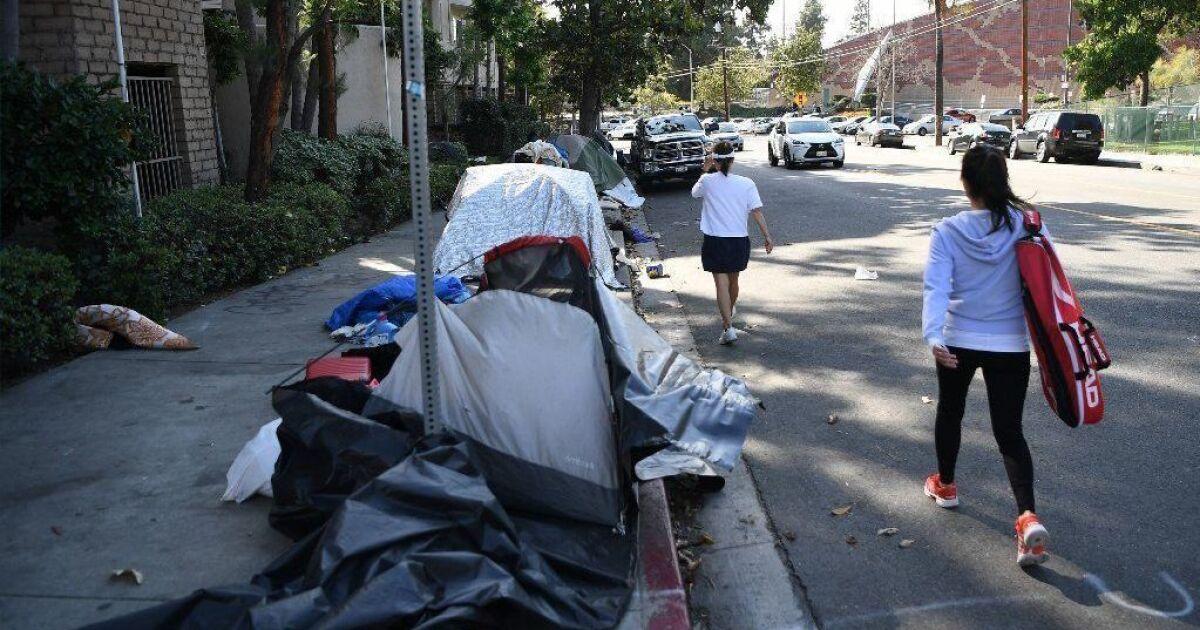 Πολλοί από L. A. είναι τα πεζοδρόμια θα είναι εκτός ορίων για τους άστεγους να κοιμηθούν αν το σχέδιο περνά