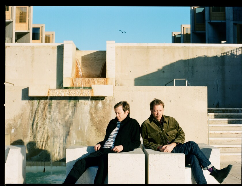 Jazz duo The Mattson 2, aka Jonathan and Jared Mattson, pictured here at the Salk Institute in La Jolla. The San Diego natives are included in the lineup of Band Together, happening on April 30.