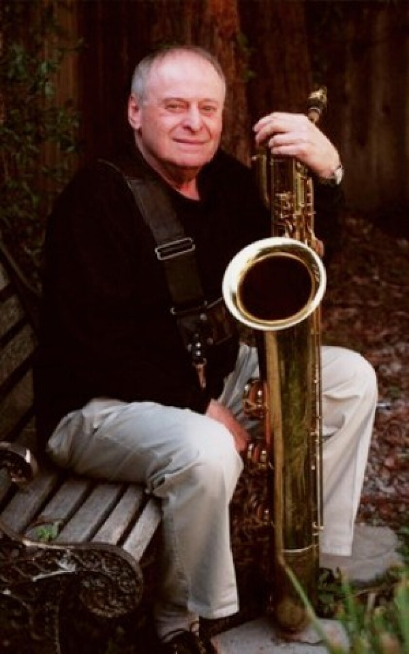 """Jack Nimitz played clarinet and alto saxophone before discovering the baritone sax and falling in love with the instrument's voice. """"It sounded so warm and nice and dark and rich,"""" he said."""