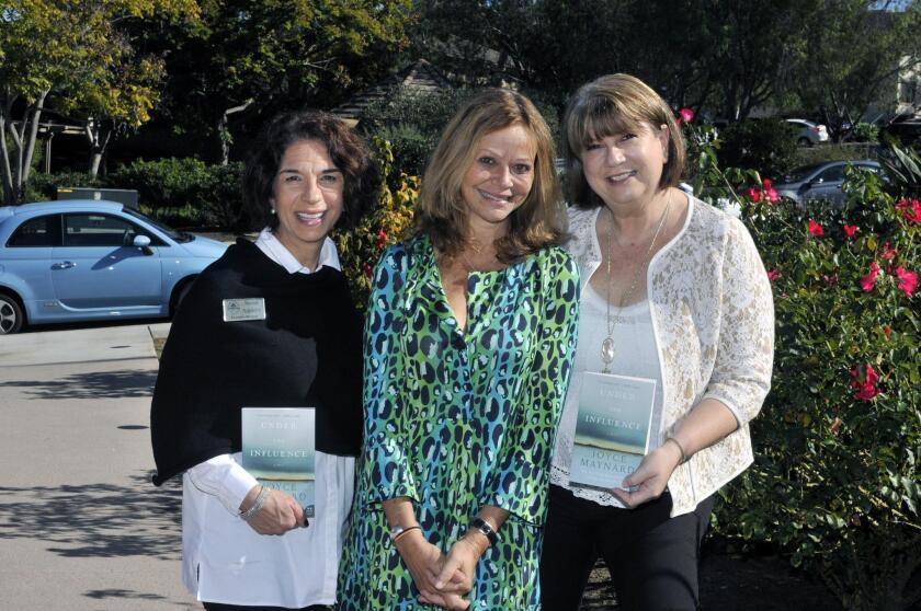 RSF Library Guild Executive Director Susan Appleby, author/guest speaker Joyce Maynard, Warwick's Director of Events Julie Slavinsky
