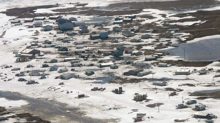 The village of Newtok, Alaska is shown in this May 24 2006.