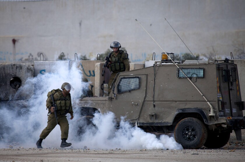 Clashes between Israelis and Palestinians