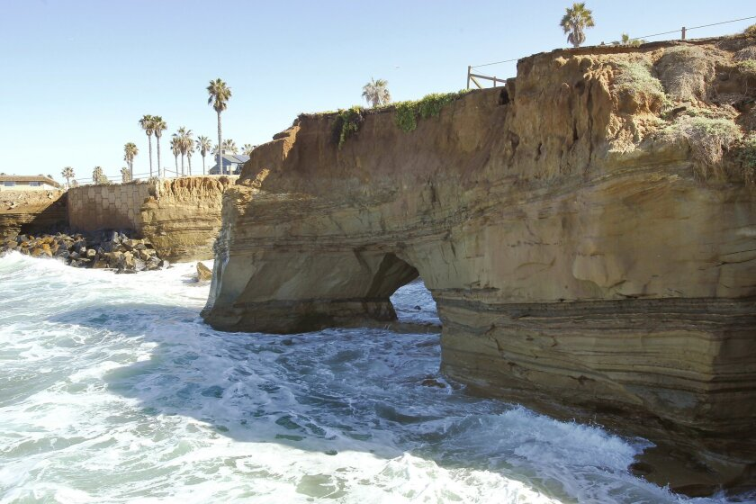 A sea cave along Sunset Cliffs Blvd. has grown causing the ground above to shift above it. City officials have closed off the area and are taking a wait and see approach to the situation.