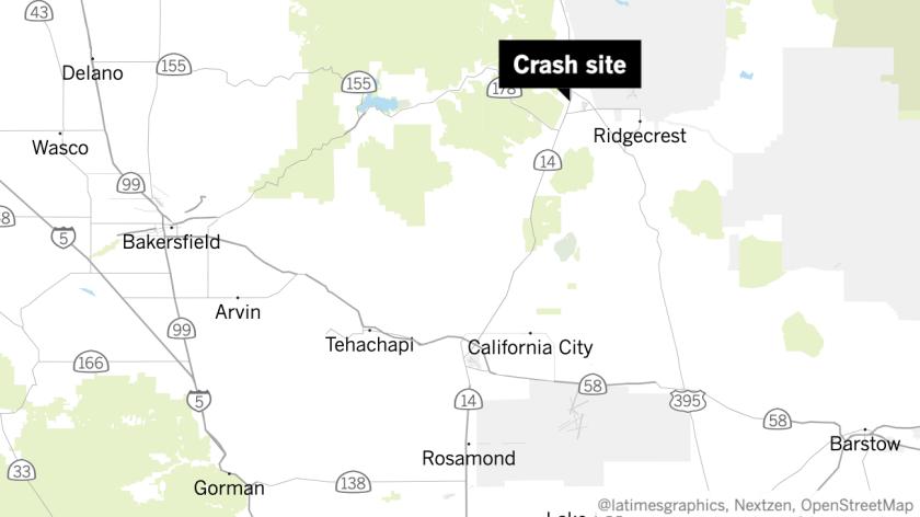 A Navy fighter jet crashed near Ridgecrest, Calif.