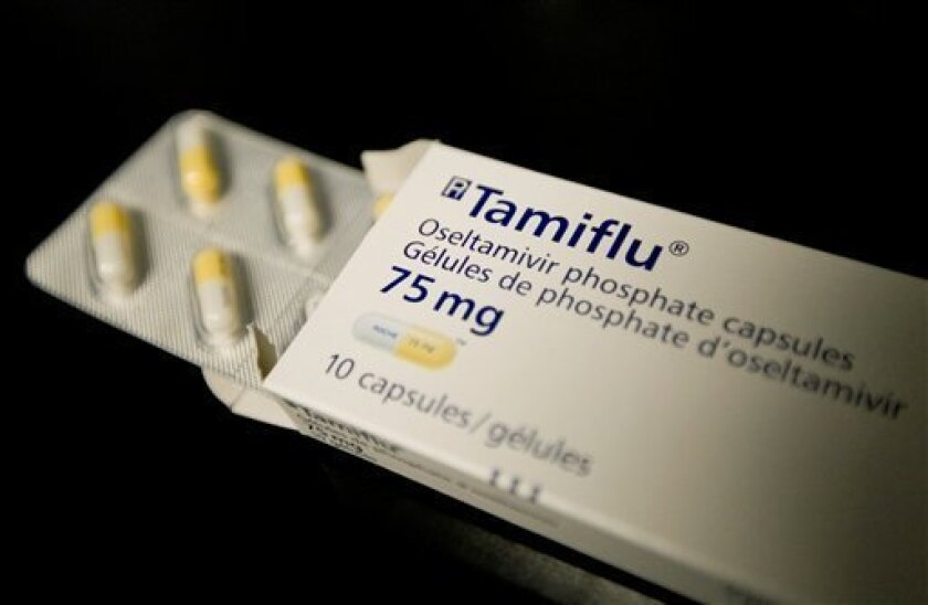 Tamiflu, an antiviral drug being used to combat swine flu, is seen in a Toronto health clinic on Thursday April 30, 2009. Affluent countries like Japan, Britain and the United States have enough Tamiflu and similar medicines to reach about a quarter to half their populations, while developing countries like Guatemala, Indonesia and India have enough for only about 1 percent of their people or less. (AP Photo/The Canadian Press,Darren Calabrese)