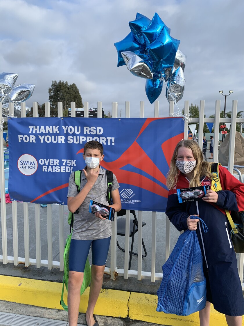 Highest-participating swim groups received goggles from Speedo, one of RSD's official team sponsors.