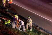 Caltrans worker injured in fall from freeway overpass
