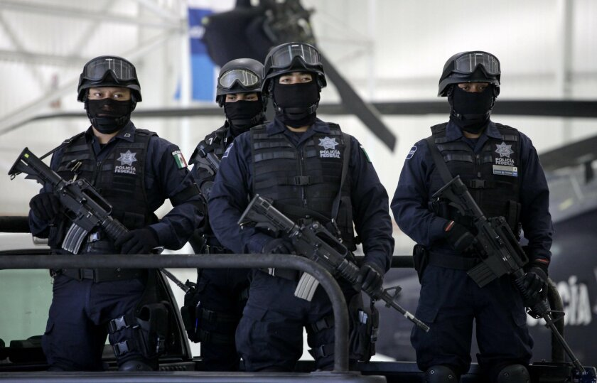 Police and soldiers fighting drug cartels in Mexico often need to mask their identities for their safety.