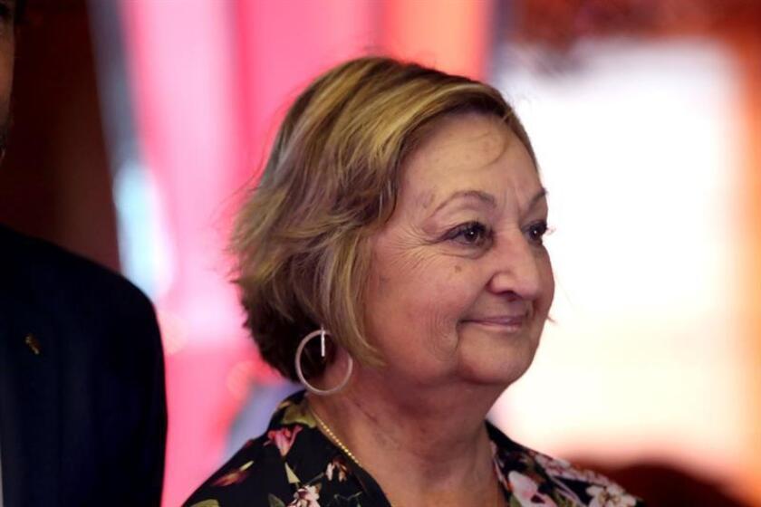 La ministra de Turismo de Uruguay, Liliam Kechichian, a bordo del crucero MSC Fantasía en Punta del Este (Uruguay). EFE