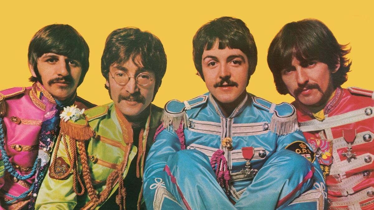 Artist Jann Haworth Talks About The Fashion And Style Featured On The Beatles Iconic Sgt Pepper S Album Cover Los Angeles Times