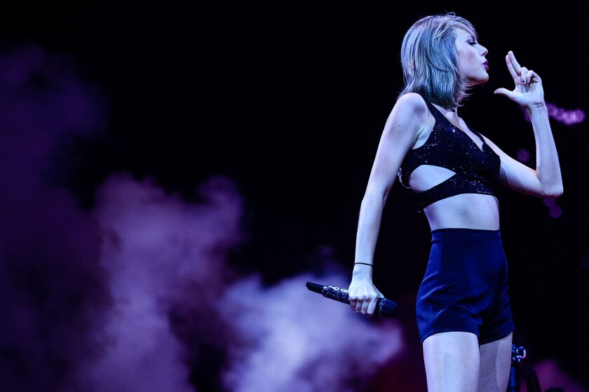 Taylor Swift, shown here performing Saturday in Cologne, Germany, criticized Apple's new music streaming service on her blog on Sunday.