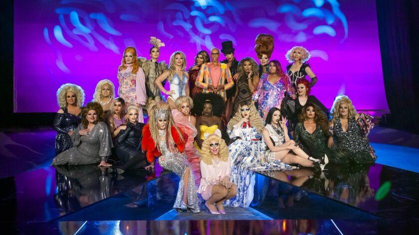 "Group photo of ""RuPaul's Drag Race"" Season 10."