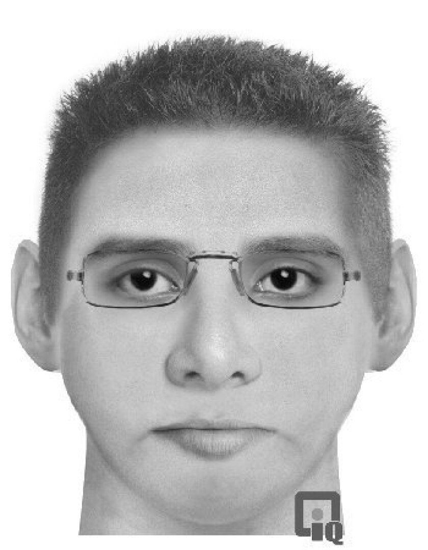 A police composite sketch of the suspect in the Feb. 13 assault.