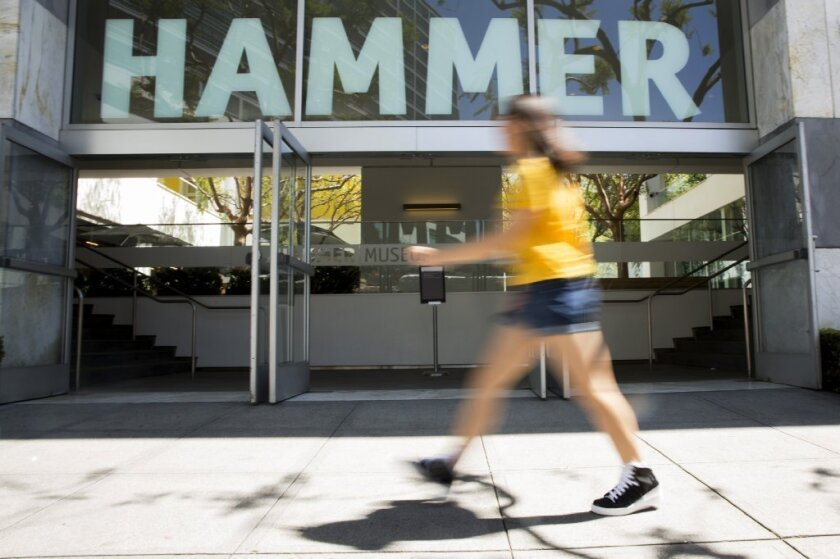 The exterior of the Hammer Museum in Westwood.