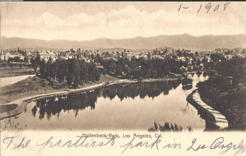 Hollenbeck Park in Boyle Heights at the turn of the 20th century
